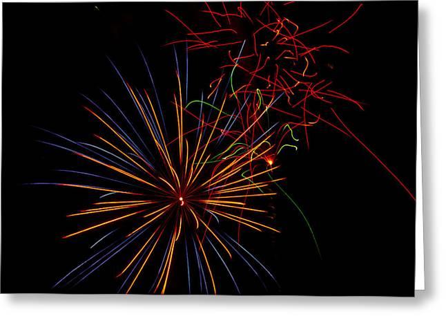 The Art Of Fireworks  Greeting Card by Saija  Lehtonen