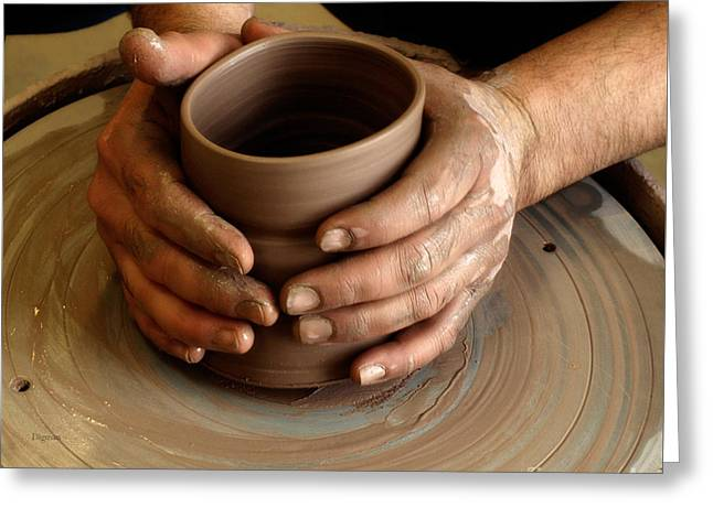 Pottery Wheel Greeting Cards - The Art of Hands Greeting Card by Steven  Digman