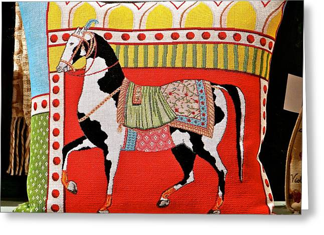 Cities Tapestries - Textiles Greeting Cards - The Art Of Horses Greeting Card by Ira Shander