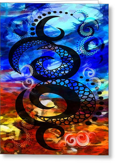 Henry Mixed Media Greeting Cards - The Art Of Living 1 Greeting Card by Angelina Vick