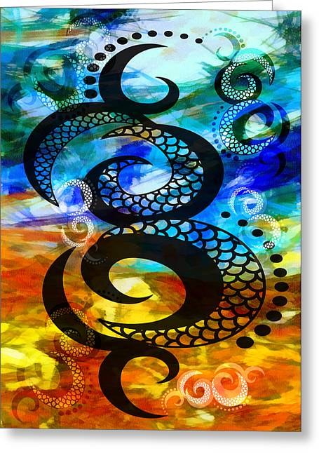 Mingle Greeting Cards - The Art Of Living 2 Greeting Card by Angelina Vick