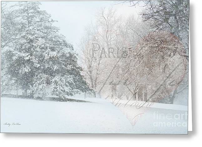 Snow Scene Digital Greeting Cards - The Art of Nature Greeting Card by Betty LaRue
