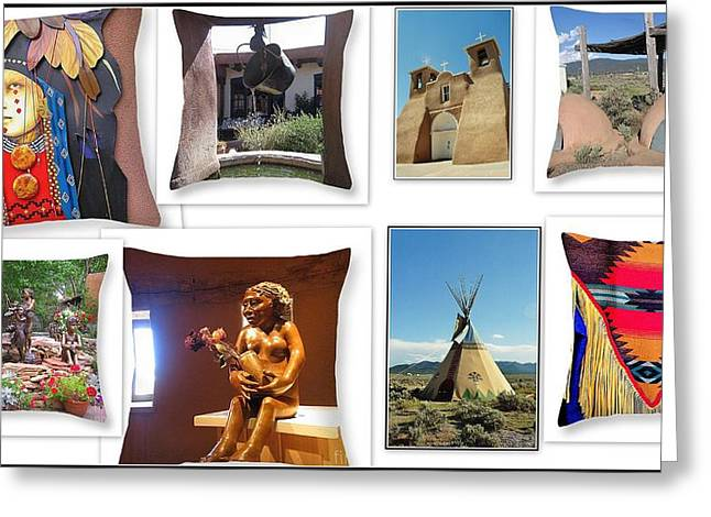 Wooden Sculpture Greeting Cards - The Art of New Mexico Greeting Card by  Photographic Art and Design by Dora Sofia Caputo
