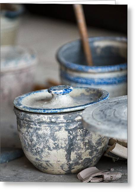 Pottery Wheel Greeting Cards - The Art Of Pottery Greeting Card by Dale Kincaid