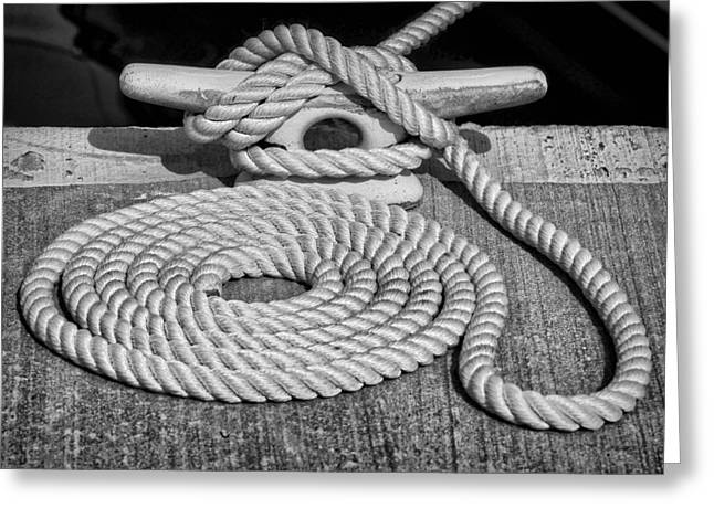 Black Tie Greeting Cards - The Art of Rope Lying Greeting Card by Nikolyn McDonald