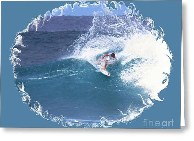 Surfing Photos Greeting Cards - The Art of Surfing Greeting Card by Scott Cameron