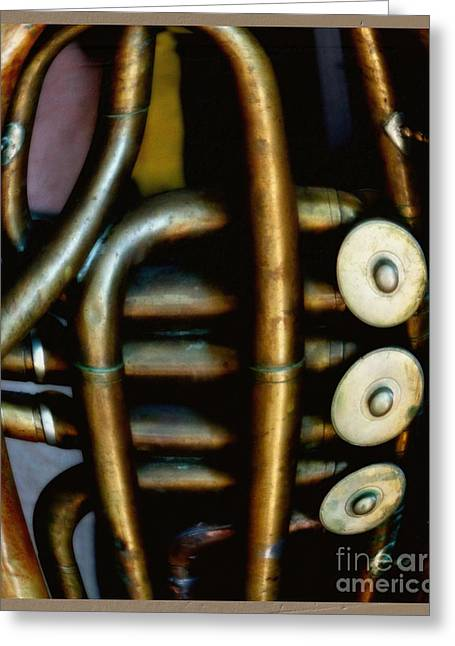 Tuba Greeting Cards - The Art of Tuba Greeting Card by Steven  Digman