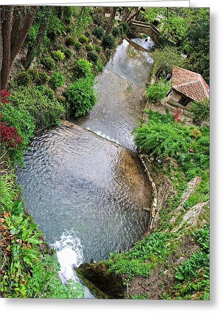 The Artificial River From Balchik Botanical Garden Greeting Card by Cristina-Velina Ion