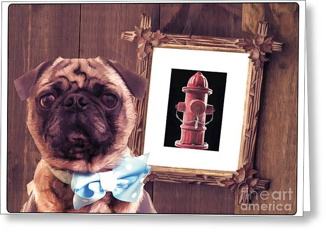 Artist Photographs Greeting Cards - The Artist and His Masterpiece Greeting Card by Edward Fielding