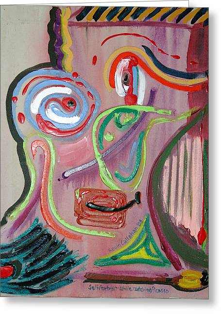 Pablo Picasso Paintings Greeting Cards - The Artist as Picasso Greeting Card by Kevin Callahan