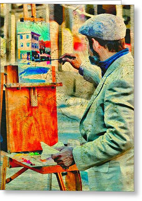 Photograph Of Painter Greeting Cards - The Artist Greeting Card by Diana Angstadt