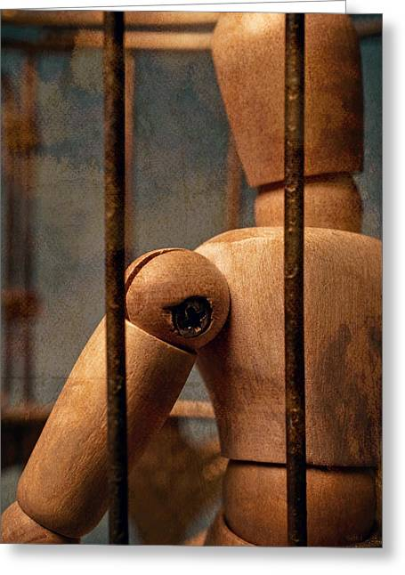 Penitentiary Greeting Cards - The Artist Greeting Card by Jeff  Gettis