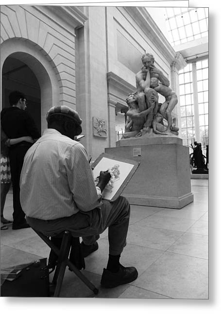 New York The Metropolitan Museum Of Art Greeting Cards - The Artist Greeting Card by Jordan Kirschner