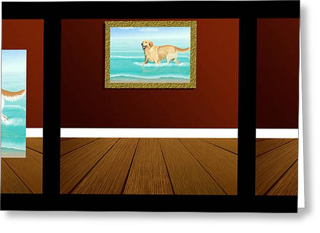 Dogs Digital Art Greeting Cards - The Artistic Process Greeting Card by Jacqueline Barden