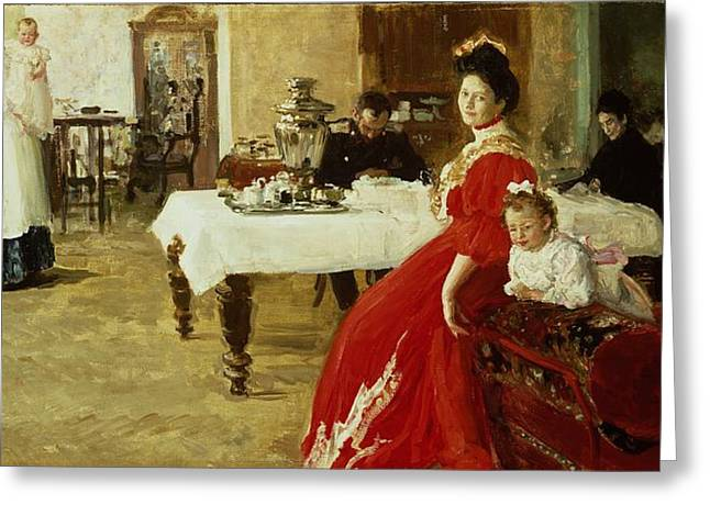 ist Photographs Greeting Cards - The Artists Daughter, 1905 Oil On Canvas Greeting Card by Ilya Efimovich Repin