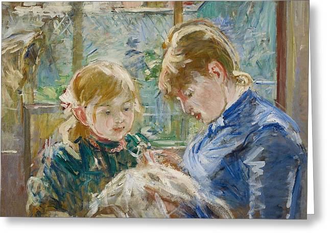 Signature Greeting Cards - The Artists Daughter Greeting Card by Berthe Morisot