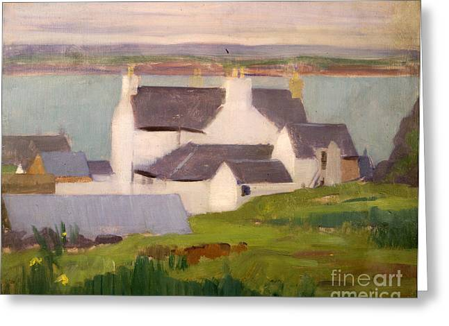 Village By The Sea Greeting Cards - The Artists Studio Iona Greeting Card by Francis Campbell Boileau Cadell