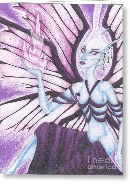 Aura Drawings Greeting Cards - The Ascendant Greeting Card by Coriander  Shea