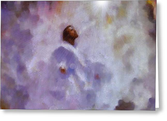 Yahweh Greeting Cards - The Ascension of Jesus Greeting Card by Dan Sproul