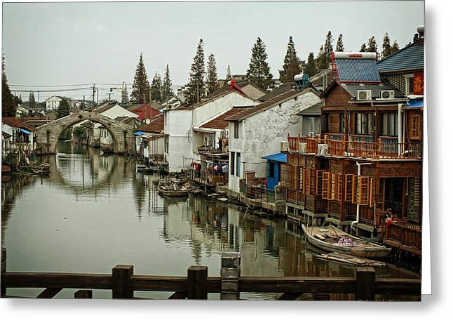 Lucinda Walter Greeting Cards - The Asian Venice  Greeting Card by Lucinda Walter