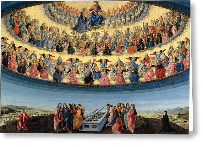 Hierarchy Greeting Cards - The Assumption of the Virgin Greeting Card by Francesco Botticini