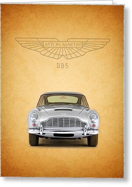 Aston Martin Greeting Cards - The Aston Martin DB5 Greeting Card by Mark Rogan