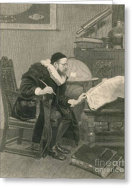 Engraving Greeting Cards - The Astrologer 1879 Greeting Card by Science Source