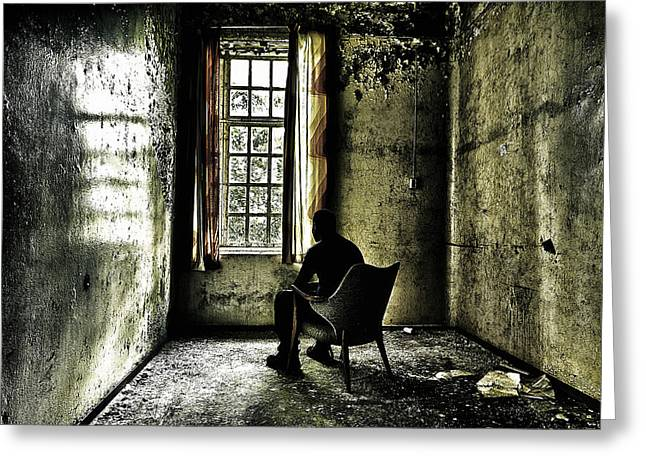 Asylum Greeting Cards - The Asylum Project - A Room with a View Greeting Card by Erik Brede