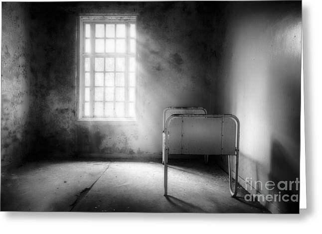 Asylum Greeting Cards - The Asylum Project - Empty Bed Greeting Card by Erik Brede