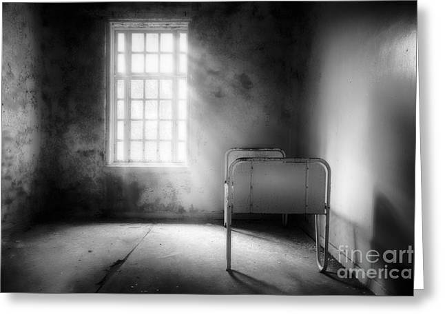 The Asylum Project - Empty Bed Greeting Card by Erik Brede