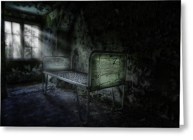 Asylum Greeting Cards - The Asylum Project - Seven Greeting Card by Erik Brede