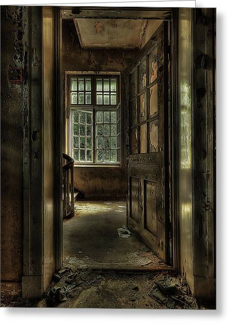 Vintage Wall Greeting Cards - The Asylum Project - Welcome Greeting Card by Erik Brede