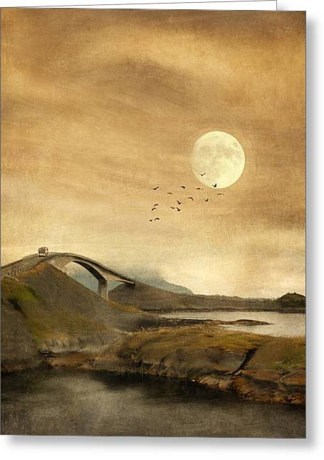 Road Travel Greeting Cards - The Atlantic Road Greeting Card by Sonya Kanelstrand