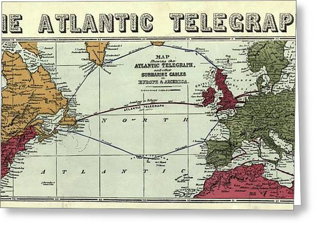 The Atlantic Telegraph Greeting Card by Library Of Congress, Geography And Map Division