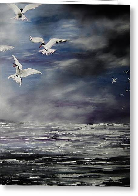 My Ocean Greeting Cards - The Atlantic Tern. Greeting Card by Eugene Budden