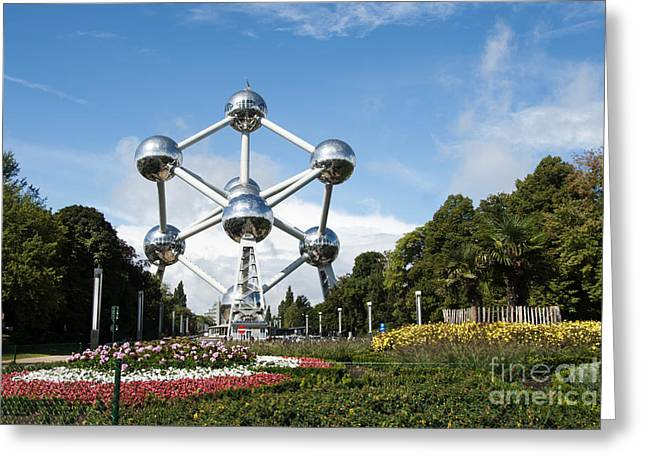 Bizarre Greeting Cards - The Atomium Greeting Card by Juli Scalzi