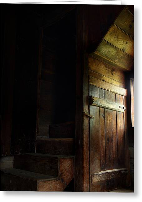 Wooden Steps Greeting Cards - The Attic Greeting Card by Michael Eingle