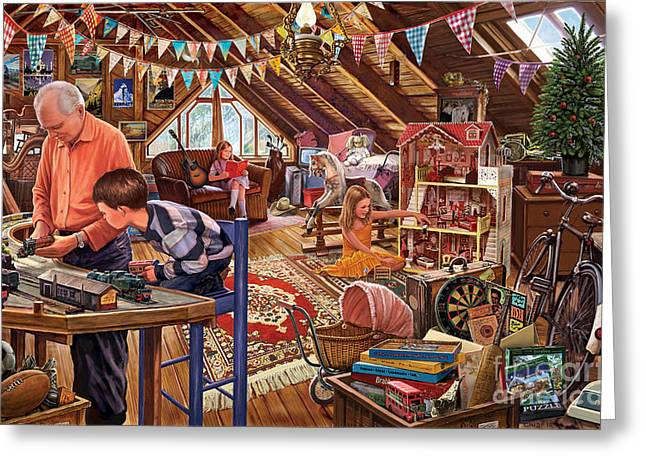 Crisp Greeting Cards - The Attic Greeting Card by Steve Crisp