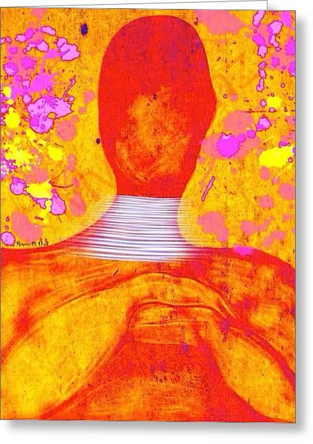 Romaine Digital Art Greeting Cards - The Aura Greeting Card by Romaine Head