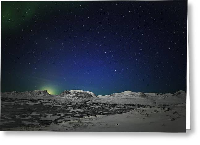 Temperature Greeting Cards - The Aurora Borealis Or Northern Lights Greeting Card by Panoramic Images