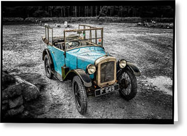Black And White Hdr Greeting Cards - The Austin 7 Greeting Card by Adrian Evans