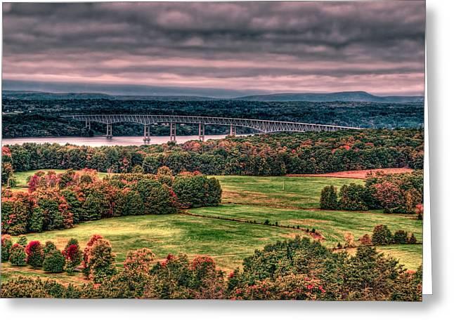 Kingston Digital Greeting Cards - The Autumnal Bridge Greeting Card by Karl Barth