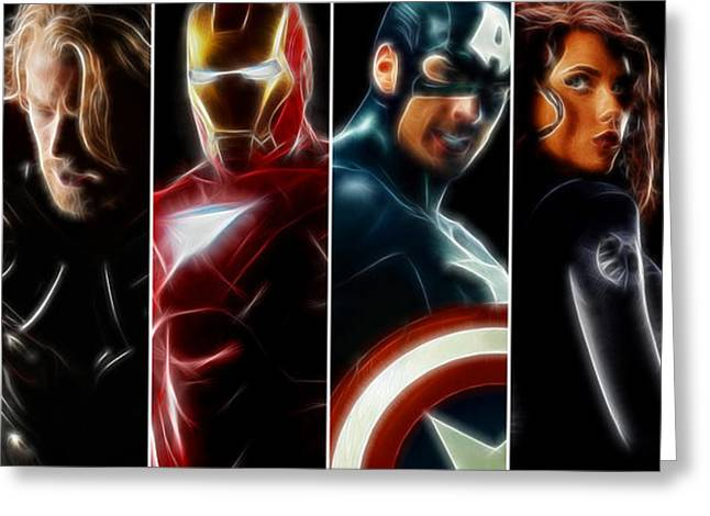 Movies Greeting Cards - The Avengers - Full Crew Greeting Card by - BaluX -