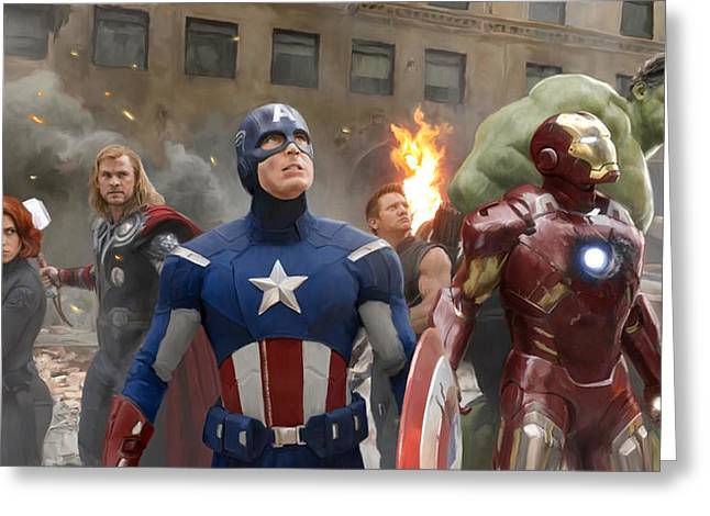 Mark Ruffalo Greeting Cards - The Avengers Greeting Card by Paul Tagliamonte