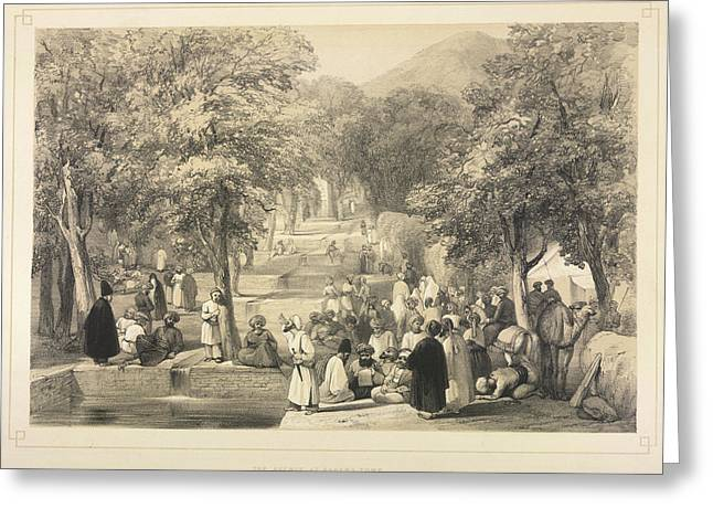 The Avenue At Baber's Tomb Greeting Card by British Library