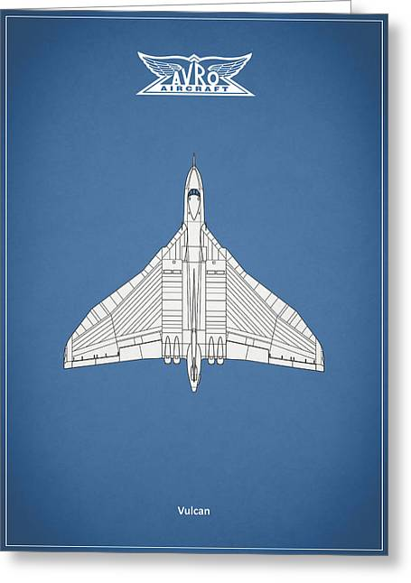 Bomber Photographs Greeting Cards - The Avro Vulcan Greeting Card by Mark Rogan