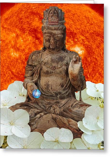 Tibetan Buddhism Greeting Cards - The Awakening  c2014 Greeting Card by Paul Ashby