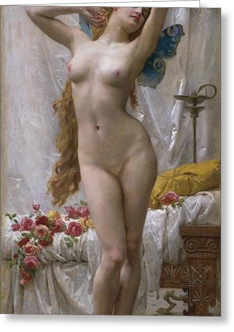 Old Masters Greeting Cards - The Awakening of Psyche Greeting Card by Guillaume Seignac