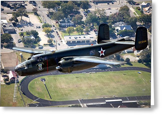 U.s. Air Force Greeting Cards - The B-25 Mitchell Medium Bomber Greeting Card by Mountain Dreams