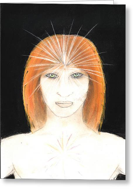 Best Sellers -  - Visionary Artist Greeting Cards - The Babaji Christ Greeting Card by Roger Hanson
